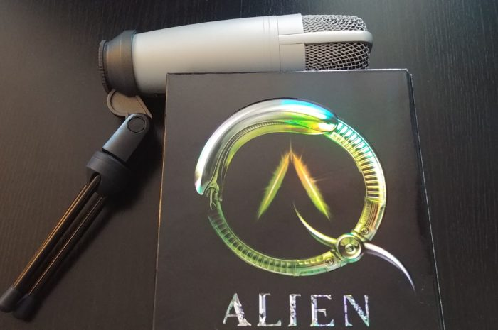 Alien quadrilogy dvd case with microphone