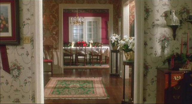 McCallister house hallway into dining room