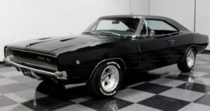 Black 68 Dodge Charger
