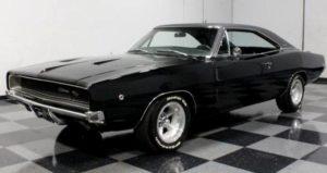 Black 68 Dodge Charger