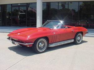 Red 65 Corvette Convertible