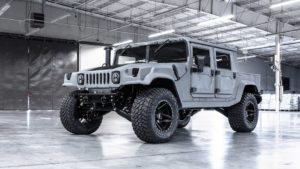 Gray Military Spec Hummer