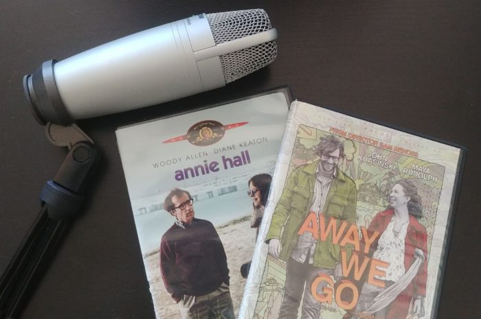 DVD cases for Annie Hall and Away We Go