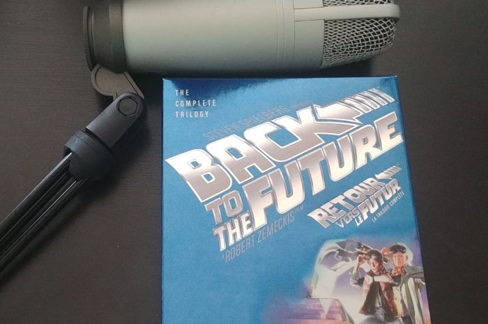 Back to the Future boxset and microphone