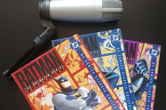 Batman the Animated Series Boxsets and microphone