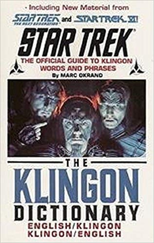 Book cover of Klingon Diction