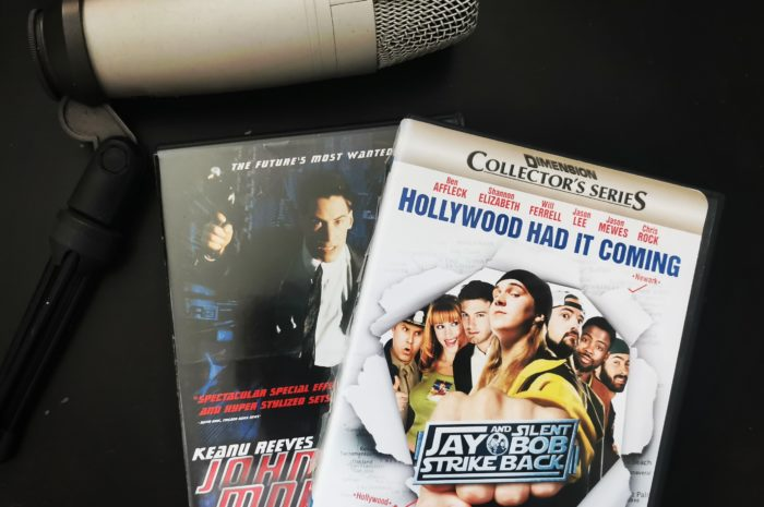 Jay and Silent Bob Strike Back and Johnny Mnemonic DVDs